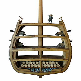 Hull (watercraft) - Cross-section of the Swedish warship, ''Vasa''.