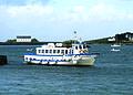 Veerboot bij het Île de Batz, Frankrijk 2007.jpg