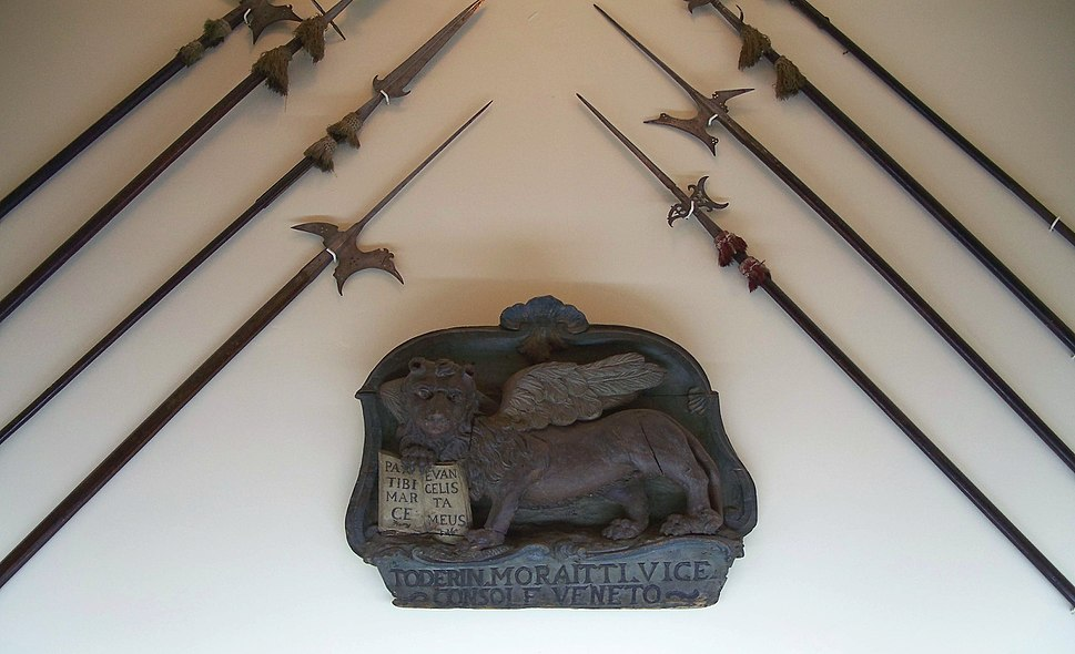 Venetian lion spears Moreas