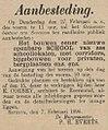 Venloosch Weekblad vol 034 no 008 Aanbesteding van een openbare school in Sevenum.jpg
