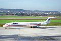 Venus Airlines MD-83; SX-BBW@ZRH;12.11.1995 (5216865797).jpg