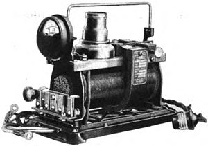 Rectifier - A vibrator battery charger from 1922.  It produced 6A DC at 6V to charge automobile batteries.