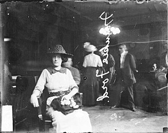 Vice - A 1912 portrait of Frankie Fore, sitting in a room during a vice raid in Calumet City (formerly known as West Hammond), Illinois.