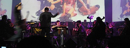 Music from the game's soundtrack is often performed live in symphonic concerts, such as the Video Games Live event in 2009. Video Games Live 2009 FFVII.jpg