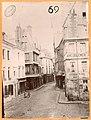 Vieux tours, auteur Jules Deslis 1893, rue du Change, place Plumereau, Carroi aux Chapeaux.jpg
