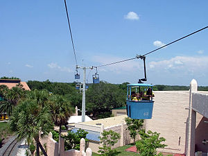 Skyride (Busch Gardens Tampa Bay) - A view from one of the dozens of gondolas running on Skyride at any given time.