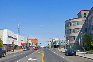 View N along 50th Avenue in downtown Yellowknife, NT.jpg