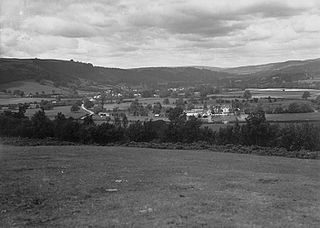 View of Llyswen, Breconshire and the Wye valley