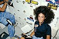 View of Mission Specialist Judith Resnik on the middeck - Flickr - NASA on The Commons.jpg
