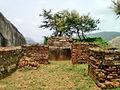 View of Ruined stone stupa at Gurubhaktulakonda monastery.jpg