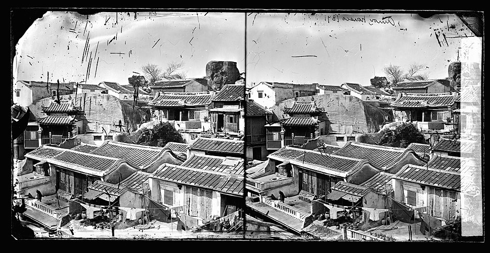 View of the rooftops of houses, Amoy, China Wellcome L0056009