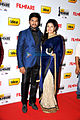 Vijay Yesudas and Dharshana at 60th South Filmfare Awards 2013.jpg
