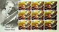 Vilayat Khan 2014 stampsheet of India.jpg