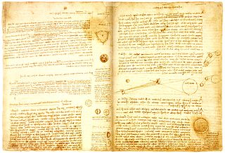 collection of famous scientific writings by Leonardo da Vinci