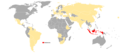 Visa requirements for Indonesian diplomatic and service passport holders.png