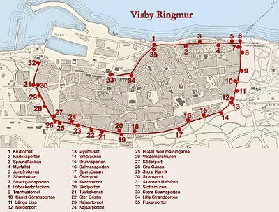 Karta över ringmuren