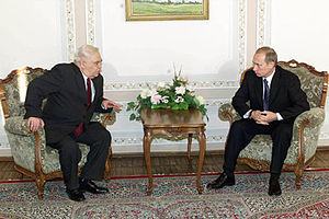 National Assembly (Azerbaijan) - Speaker of the National Assembly of Azerbaijan Murtuz Alasgarov meeting Russian President Vladimir Putin in 2001.