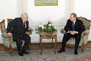 National Assembly (Azerbaijan) - Speaker of the National Assembly of Azerbaijan Murtuz Alasgarov meeting Russian President Vladimir Putin in 2001.