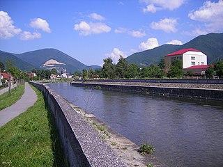 Turiec (Váh) river in Slovakia