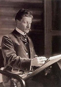 Художник за работой. Фото 1898 года