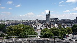View of the city and the Saint-Maurice Cathedral from the castle