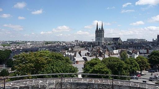 Vue sur le centre d'Angers