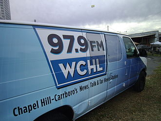 WCHL (AM) - A broadcast van for WCHL at the 2013 Belk Bowl