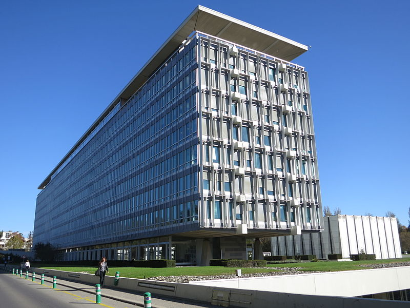 WHO HQ main building, Geneva, from West.JPG
