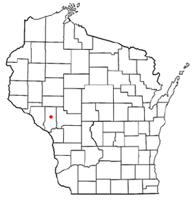 Location of Whitehall, Wisconsin