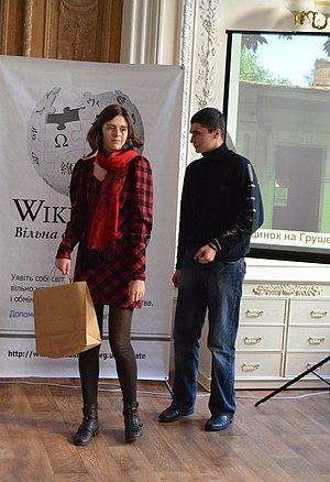 Крістіна Федорович на церемонії нагородження «ВЛП-2013», © Андрій Макуха, CC-BY-SA 3.0