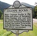 WV historical marker - Champe Rocks.jpg