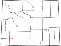Location of James Town, Wyoming