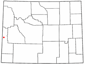 Smoot, Wyoming - Image: WY Map doton Smoot