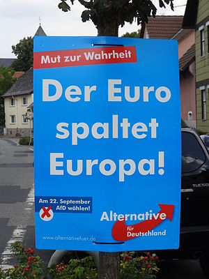 Alternative for Germany - Image: Wahlplakat 2013 Af D 01