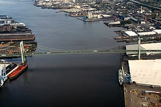 Port of Camden port in New Jersey, USA