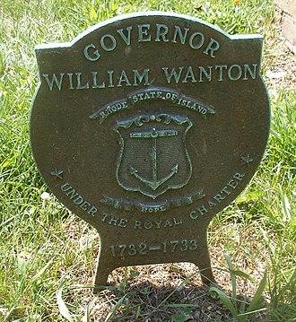 William Wanton - William Wanton Grave Medallion