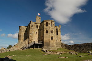 Warkworth Castle - The keep was built by Henry Percy, 1st Earl of Northumberland.
