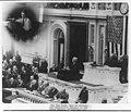 Warren Gamaliel Harding; speaking to joint session of Congress; insert photo of telegraph operator transmitting speech for 1st time LCCN2007683066.jpg