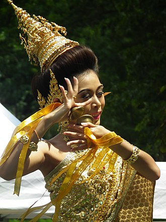 Ching (instrument) - Ching used by a dancer in Thailand.