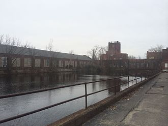 Springfield Armory - View of the Water Shops in Springfield, Massachusetts in 2014. The Water Shops served as the epicenter for Springfield Armory firearms production throughout the nineteenth and twentieth centuries.