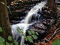 Waterfall in Merrydale, Slaithwaite - geograph.org.uk - 1544811.jpg