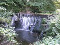 Waterfall near St. Nicholas Church, Radstock, Somerset - geograph.org.uk - 552878.jpg
