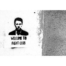 Graffiti d'un homme.