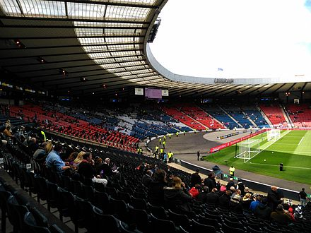 Hampden Park, home of Queens Park and the Scotland national football team West Stand Hampden Park.jpg