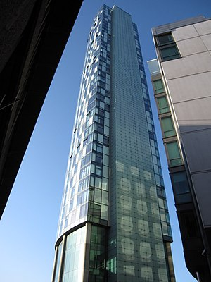 West Tower - Image: West Tower from ground level