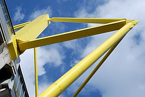 Westfalenstadion - The yellow pylons that give the stadium its characteristic exterior.