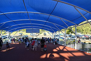 Wet'n'Wild Gold Coast - The large entrance walkway/queue with cover