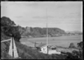 Whakatane Harbour and the signal station. ATLIB 291887.png