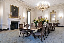 The State Dining Room After Renovation In 2015.