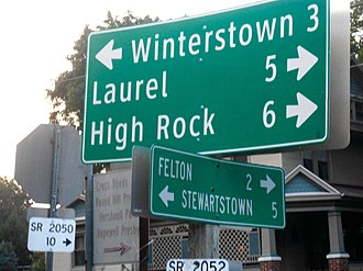 Cross Roads, Pennsylvania - Sign at intersection in Cross Roads